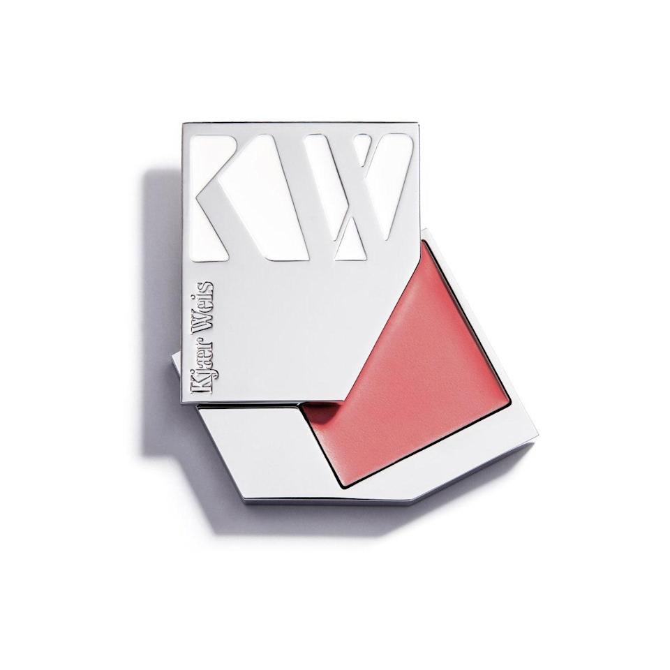 "Kjaer Weis is somewhat of a pioneer of refillable beauty, as most of its products have been offered in refillable glass and metal packages since the brand's inception. We're particularly fond of this dewy cream blush that just melts into your skin, and the luxe compact that closes with a satisfying click. (The brand also offers a refillable cardboard case for $37 if the metal is too much of a splurge). $32, Kjaer Weis. <a href=""https://shop-links.co/1738246191162369210"" rel=""nofollow noopener"" target=""_blank"" data-ylk=""slk:Get it now!"" class=""link rapid-noclick-resp"">Get it now!</a>"