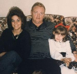 From left: Cheryl Pierson Cuccio, dad James Pierson and sister JoAnn in the 1980s.
