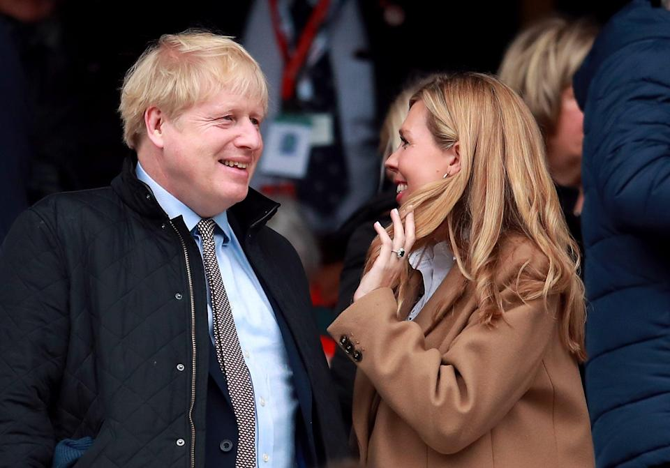 Prime Minister Boris Johnson and partner Carrie Symonds (Adam Davy/PA) (PA Wire)