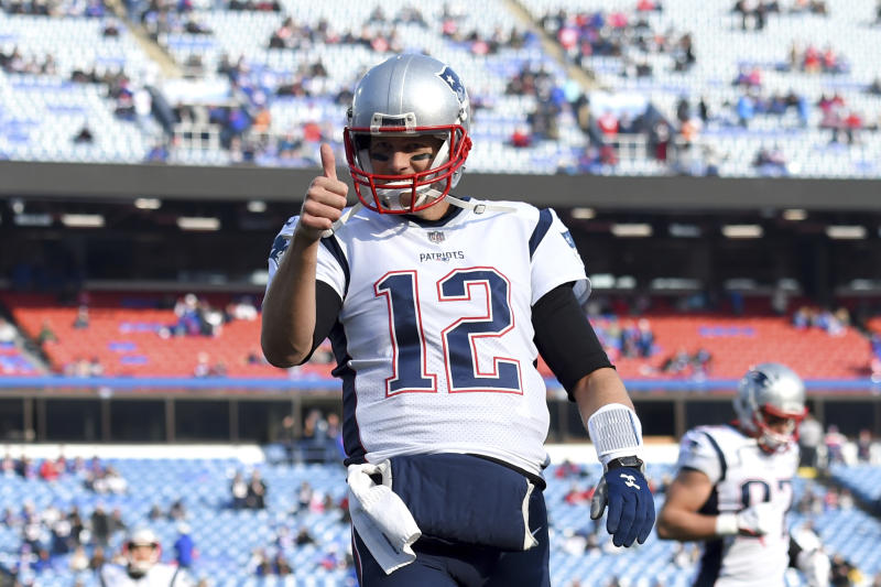 New England Patriots quarterback Tom Brady was smiling pregame f43cf755f