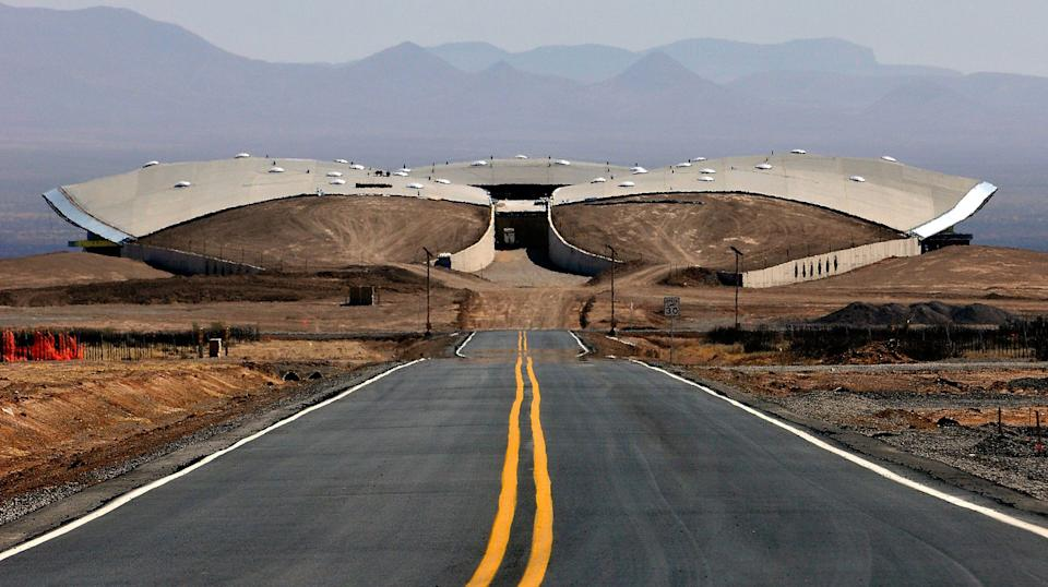 A view of the back of the Virgin Spaceport America terminal hangar. The company, which wants to launch commercial space flights, is looking for pilot-astronauts.