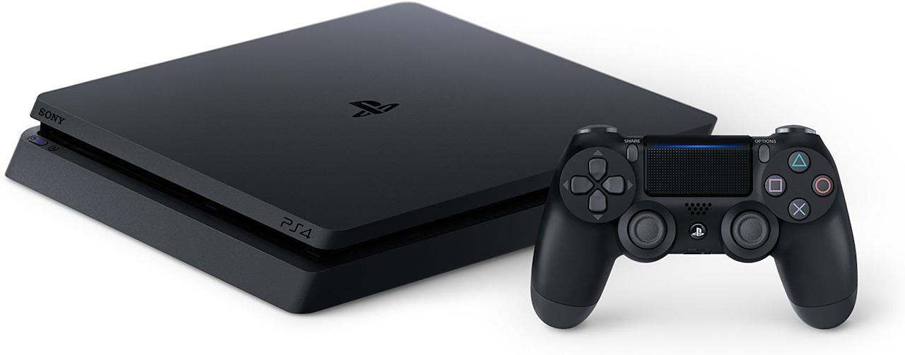 "<p><a rel=""nofollow"" href=""https://www.amazon.com/PlayStation-4-Slim-1TB-Console/dp/B071CV8CG2/?tag=syndication-20"">BUY NOW</a></p><p>Don't need 4K? The PS4 Slim outputs in 1080p and costs less, which is a boon.</p>"