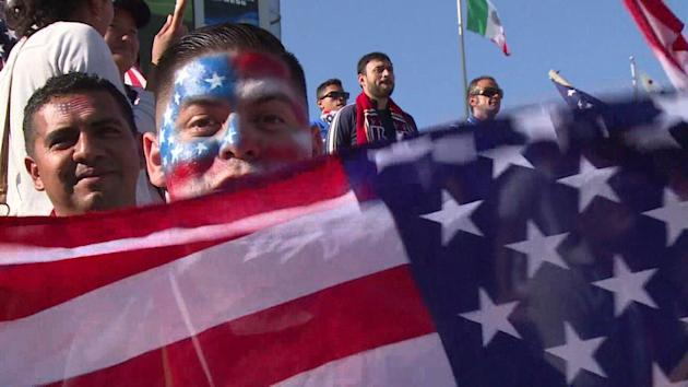 Team USA will have the support of its fans when it takes on Portgual this Sunday.