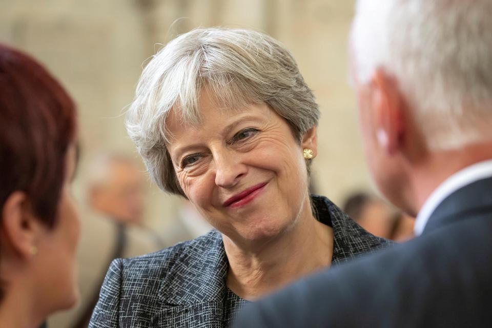 Theresa May's 'soft' Brexit plan was shot down by her own party colleagues. Photograph: Reuters