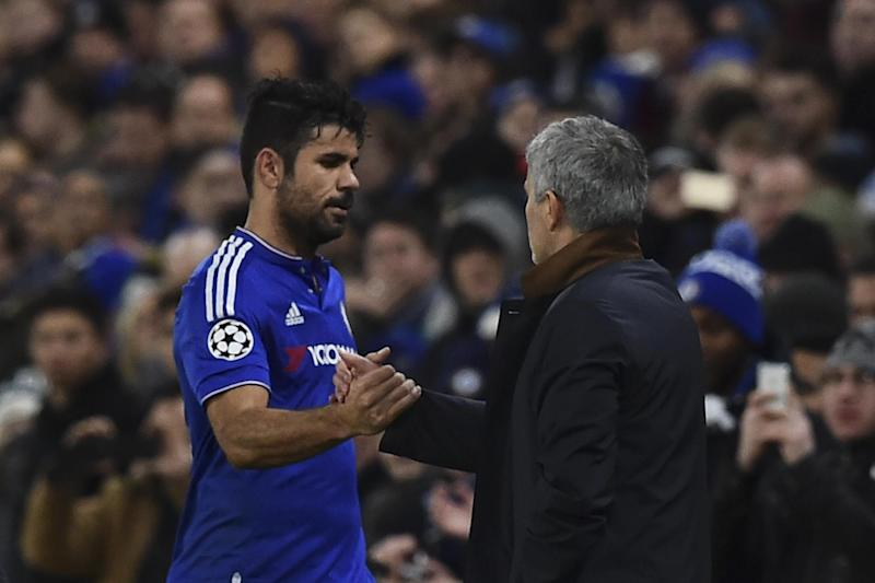Reunited | Costa will come up against Mourinho when Chelsea travel to Old Trafford: Ben Stansall/AFP/Getty Images