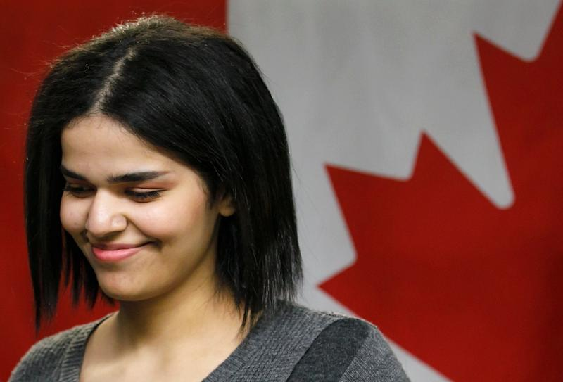 The sisters' case has emerged a month after 18-year-old Saudi woman Rahaf Mohammed al-Qunun gained refugee status in Canada (AFP Photo/Cole BURSTON)