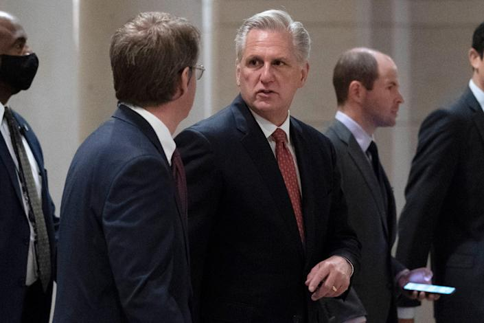 """House Minority Leader Kevin McCarthy of California warned telecom companies that the """"Republican majority will not forget"""" if they hand over phone records to congressional investigators."""