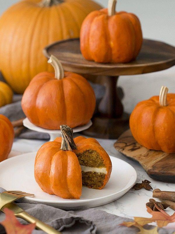 """<p>Tiny bundt cakes filled with fall spices and a rich, creamy layer cream of cheese frosting will be just as welcome at Halloween as they are on your Thanksgiving dessert table. </p><p><strong>Get the recipe at <a href=""""https://preppykitchen.com/pumpkin-mini-cakes/"""" rel=""""nofollow noopener"""" target=""""_blank"""" data-ylk=""""slk:Preppy Kitchen"""" class=""""link rapid-noclick-resp"""">Preppy Kitchen</a>.</strong></p><p><strong><a class=""""link rapid-noclick-resp"""" href=""""https://go.redirectingat.com?id=74968X1596630&url=https%3A%2F%2Fwww.walmart.com%2Fsearch%2F%3Fquery%3Dmini%2Bbundt%2Bpans&sref=https%3A%2F%2Fwww.thepioneerwoman.com%2Ffood-cooking%2Fmeals-menus%2Fg32110899%2Fbest-halloween-desserts%2F"""" rel=""""nofollow noopener"""" target=""""_blank"""" data-ylk=""""slk:SHOP MINI BUNDT PANS"""">SHOP MINI BUNDT PANS</a><br></strong></p>"""