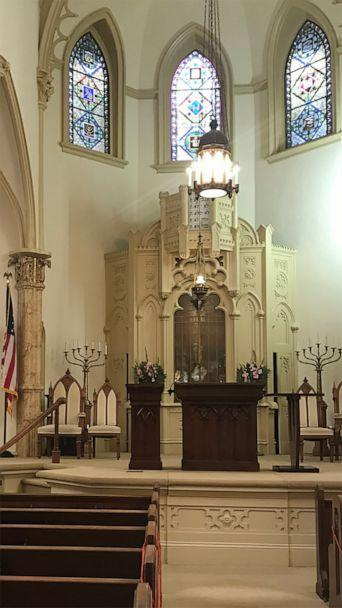PHOTO: The sanctuary at Congregation Mickve Israel in Savannah, Ga., the third oldest Jewish congregation in America, May 2021. (ABC News)