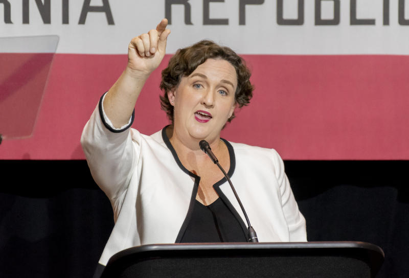 Democrat Katie Porter, who is challenging Rep. Mimi Walters in California's 45th Congressional District, raised $2 million more than Walters in the third quarter of this year. (Digital First Media/Orange County Register/Getty Images)