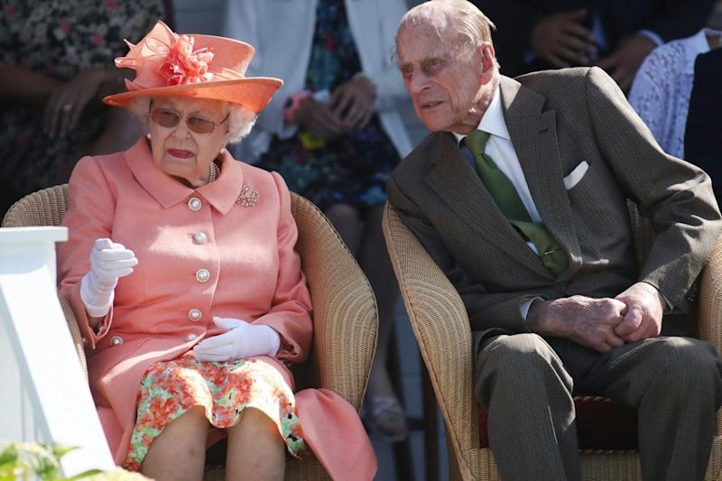 Prince Philip and the Queen pictured together at the polo in June (PA)
