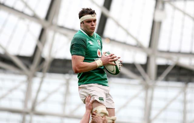 James Ryan, pictured, has been selected as Ireland captain in the absence of Johnny Sexton