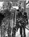 """<p>When Prince Philip visited a Charreada (a Rodeo of amateur Mexican riders, composed of businessmen) in 1964, he ran into a barrage of confetti, showered on him from above. He stopped and said, """"A Storm.""""</p>"""