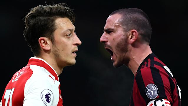 The Gunners take on the side that dumped them out of the Champions League in 2012, with Gennaro Gattuso's men at home in the first leg