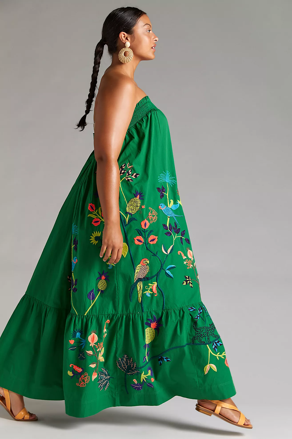 """<h2>Anthropologie Ruffled Floral Maxi Dress<br></h2><br><strong>Sizes Available: 2X</strong><br><br><em>Shop <strong><a href=""""https://www.anthropologie.com/shop/ruffled-floral-maxi-dress?category=plus-size-dresses&color=030&type=PLUS&viewcode=c&quantity=1"""" rel=""""nofollow noopener"""" target=""""_blank"""" data-ylk=""""slk:Anthropologie"""" class=""""link rapid-noclick-resp"""">Anthropologie</a></strong></em><br><br><strong>Anthropologie</strong> Ruffled Floral Maxi Dress, $, available at <a href=""""https://go.skimresources.com/?id=30283X879131&url=https%3A%2F%2Fwww.anthropologie.com%2Fshop%2Fruffled-floral-maxi-dress%3Fcategory%3Dplus-size-dresses%26color%3D030%26type%3DPLUS%26viewcode%3Dc%26quantity%3D1"""" rel=""""nofollow noopener"""" target=""""_blank"""" data-ylk=""""slk:Anthropologie"""" class=""""link rapid-noclick-resp"""">Anthropologie</a>"""