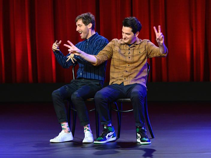 Thomas Middleditch and Ben Schwartz on stage.