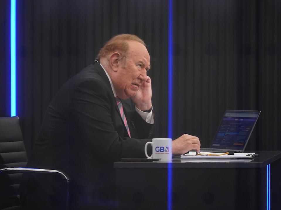 Presenter Andrew Neil during the launch for GB News (Yui Mok/PA)
