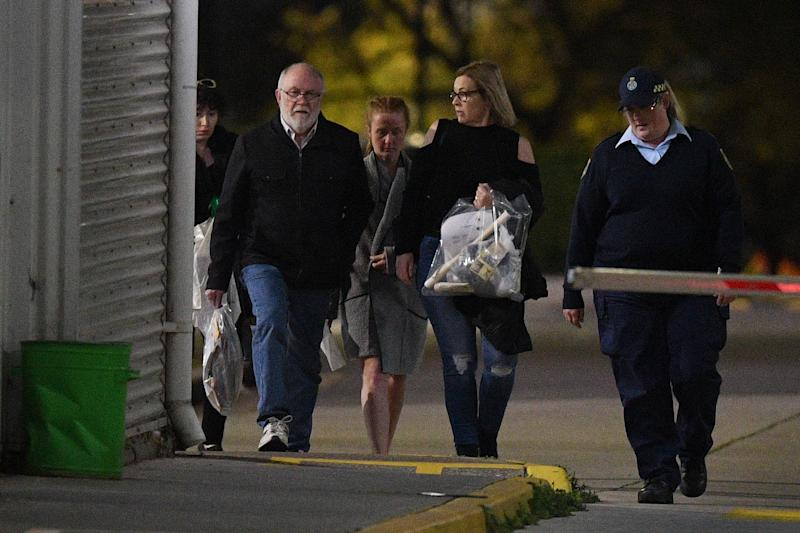 Clarissa Meredith (centre) is released on bail from Silverwater Correctional Facility in Sydney.