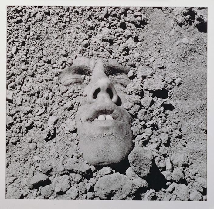 "Untitled (Face in Dirt), 1990, by David Wojnarowicz, from the documentary ""Wojnarowicz."""