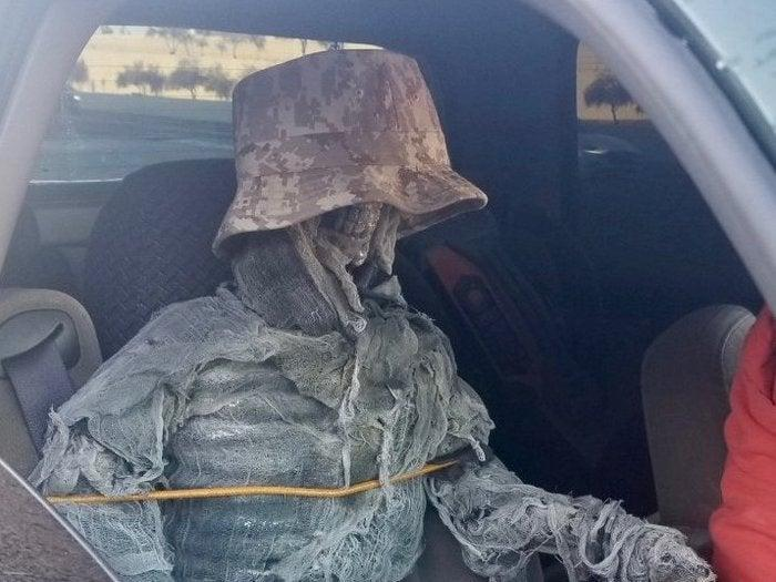 A man was handed a ticket after travelling down a HOV lane with a fake passenger: Arizona Department of Public Safety