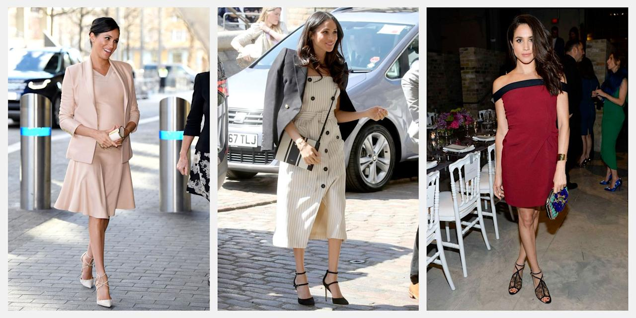 "<p>From  striped blazers to crisp button-downs, Meghan Markle is quickly becoming fashion's preppiest new ""it"" girl. We're chronicling her standout style moments here, from her first outing as Prince Harry's fiancé and her iconic royal wedding look to her various royal tours and the outfit Meghan chose to introduce <a href=""https://www.townandcountrymag.com/society/tradition/g27376121/archie-harrison-mountbatten-windsor-photos-news/"" target=""_blank"">baby Archie to the world</a>. Here, take a look at our favorite fashion looks from the Duchess of Sussex. </p>"