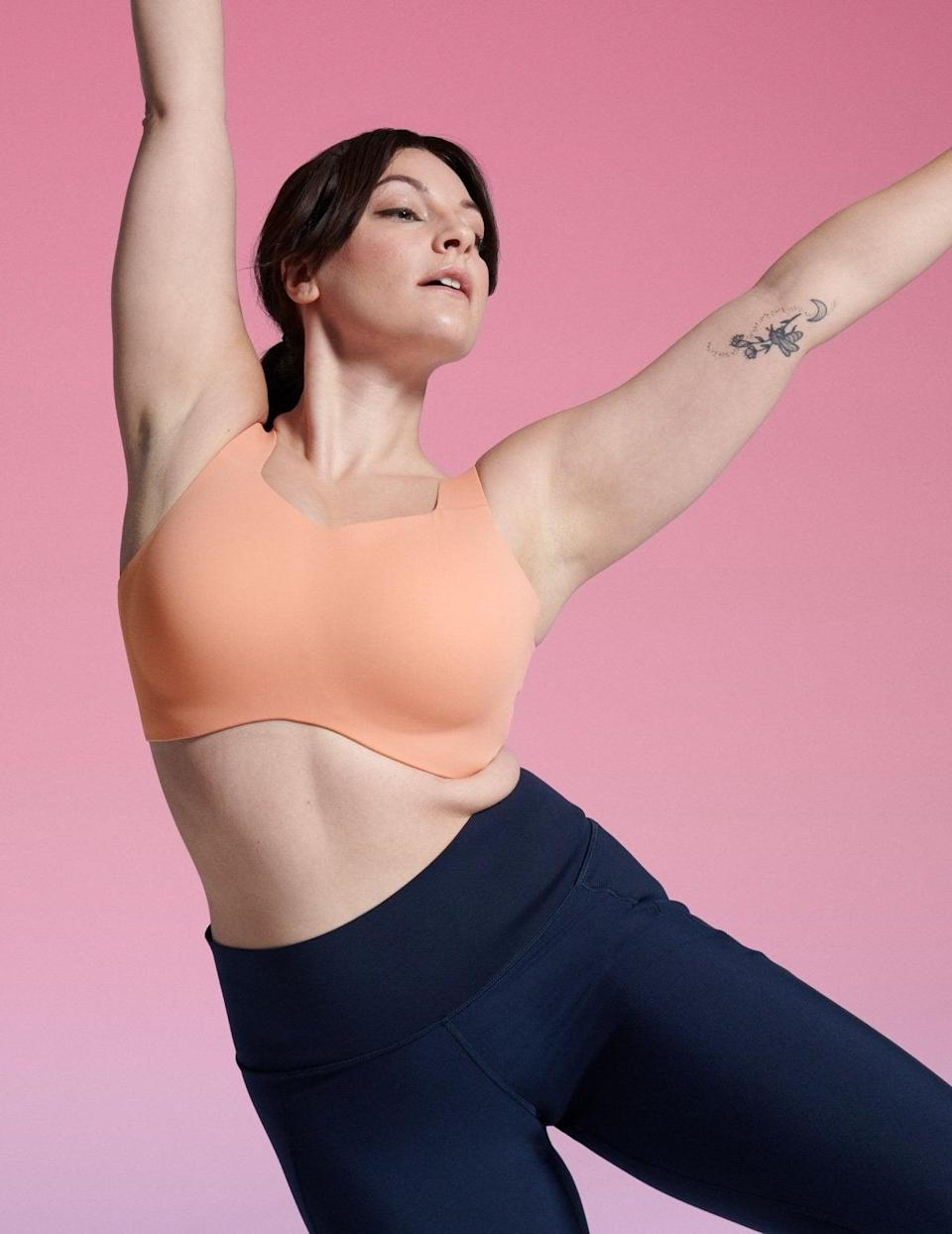 """<p>Training can be challenging, which is why you want to make sure you have gear that supports you throughout your most intense workouts. Our executive style director highly recommends the <span>Knix Catalyst Sports Bra</span> ($90). </p> <p>""""Finding a good running bra made all the difference for me. This bra gives a ton of support, is fully adjustable, and is also really smooth against your skin."""" - DAC</p>"""