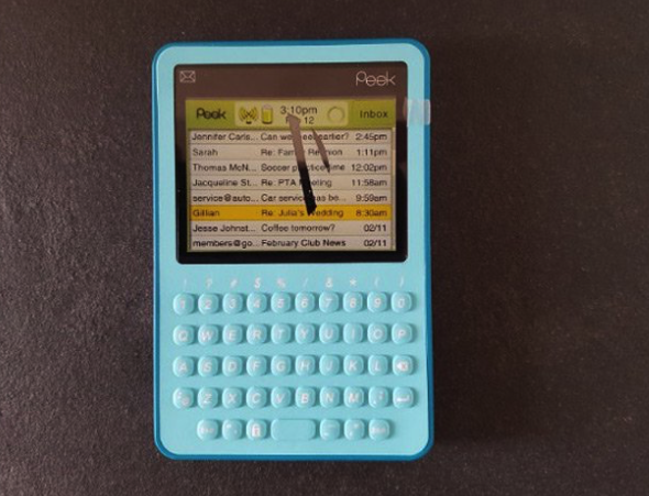 <p>This tablet from the mid 2000s was designed solely for Tweeting – but it barely looks capable of that and only fit 25 characters of your tweet on the screen at one time. (Picture: Museum of Failure) </p>