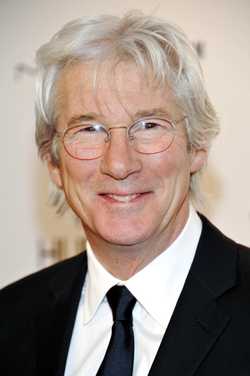 """FILE-  In this Wednesday, Feb. 9, 2011 file photo, actor Richard Gere attends amfAR's annual New York Gala at Cipriani Wall Street in New York. Gere is getting a George Eastman Award in upstate New York for his contributions to movies and humanitarian causes. The star of such films as """"An Officer and a Gentleman"""" and """"Pretty Woman"""" will be honored Feb. 16 during a ceremony at Rochester's George Eastman House, the restored home of the founder of photography pioneer Eastman Kodak Co.   (AP Photo/Evan Agostini, FILE)"""