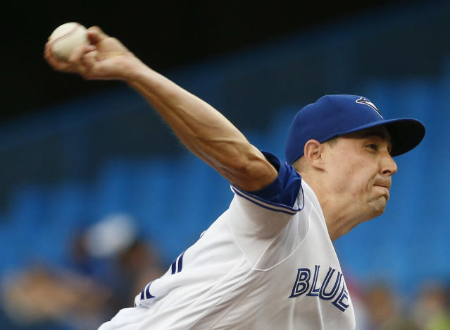 Aaron Sanchez got his stuff under control for the first time this year on Tuesday. (Rick Madonik/Toronto Star via Getty Images)