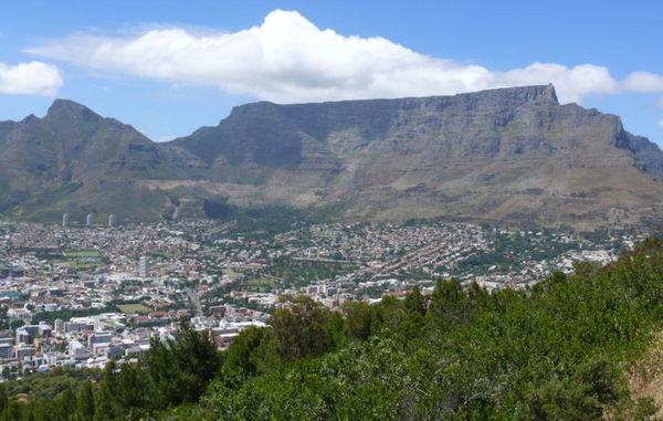 Table Mountain in Cape Town, South Africa, could be the world's strongest mountain.