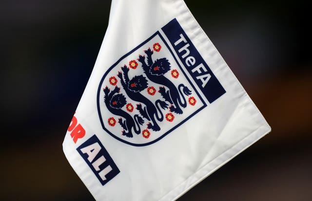 A general view of an England and FA branded corner flag