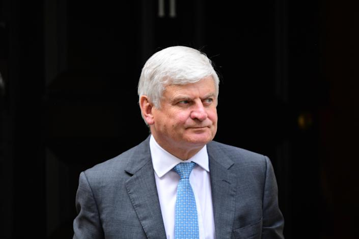 Sir Adrian Montague leaving after a meeting at 11 Downing Street on September 2, 2019 in London, England. Photo: Leon Neal/Getty Images