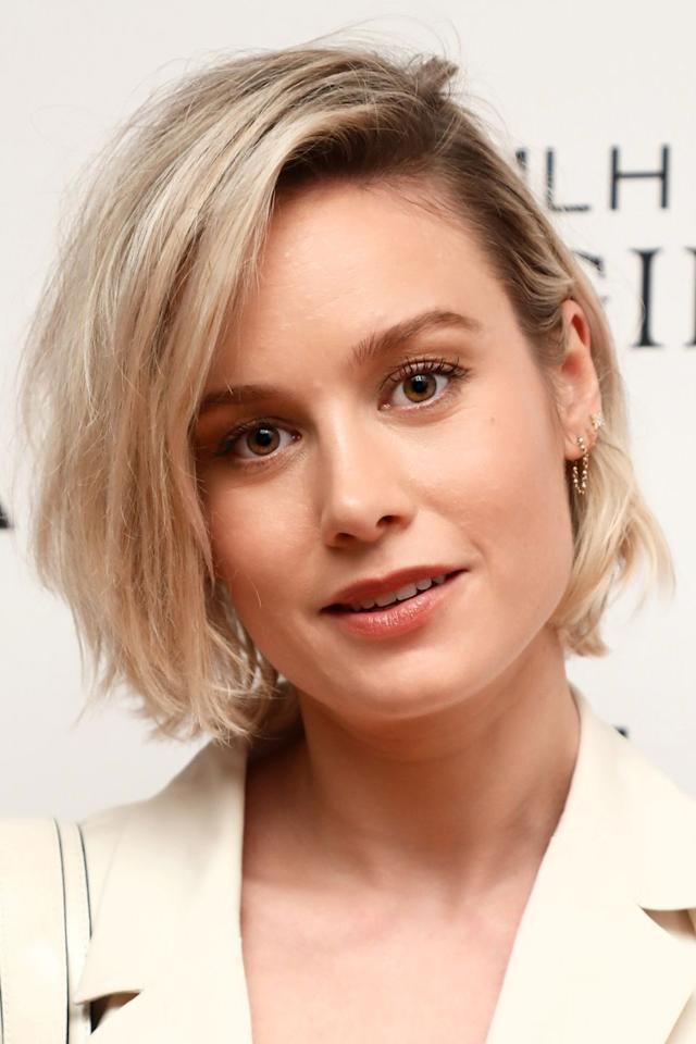<p>Brie Larson swapped her shoulder grazing lob for a super choppy bob earlier this week. </p>