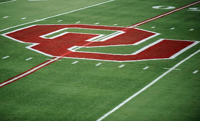 Oklahoma will debut new state outline midfield logo at Saturday's Spring Game (Photos)