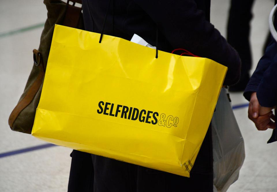 The iconic yellow Selfridges bag. (Getty Images)