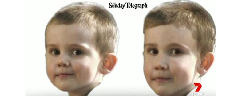 An image of what William Tyrrell may look like now as a five-year-old. Photo: Daily Telegraph.