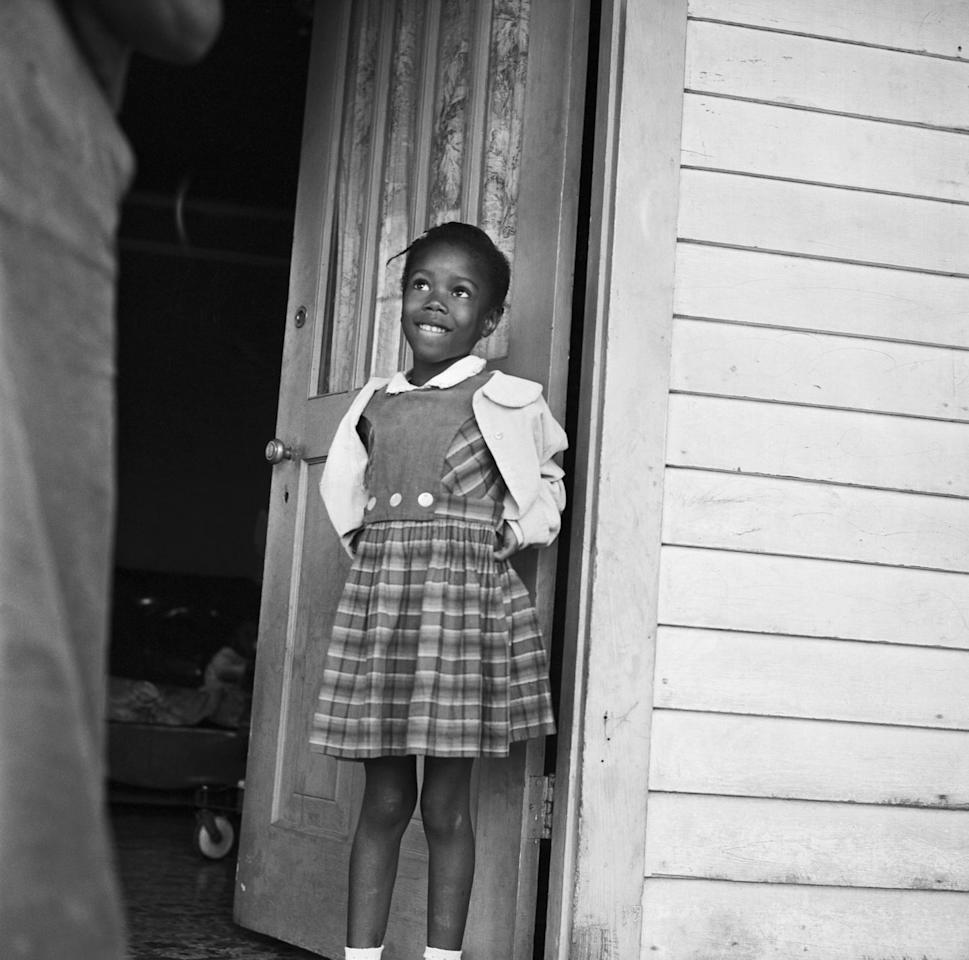 "<p>In 1960, six-year-old <a href=""https://www.womenshistory.org/education-resources/biographies/ruby-bridges"">Ruby Bridges</a> from New Orleans was the first black student to integrate at an elementary school in the South. Bridges and her mother had to be escorted by federal marshals each day because of hateful actions of the students and parents. One teacher accepted Ruby, and it was just the two of them in class as no other children would sit in the class with Ruby. She wanted to learn despite the color of her skin and never missed a day of school.</p>"