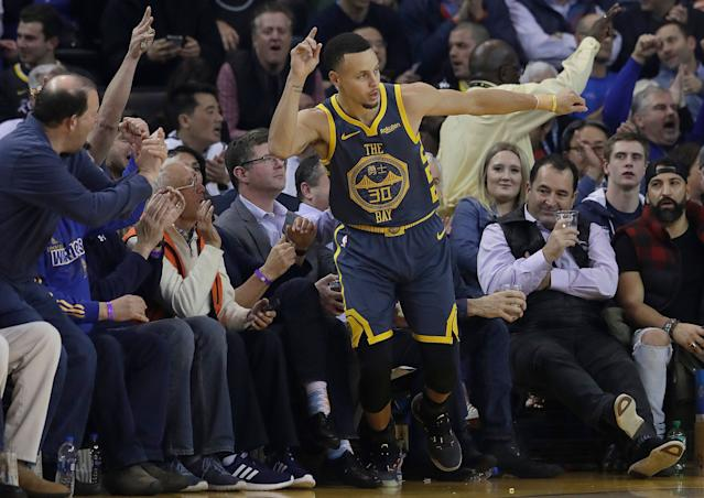 Stephen Curry is still in search of his first Finals MVP. (AP)