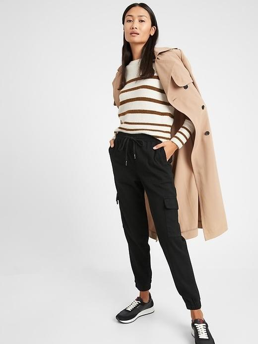 <p>This slim-fitting <span>Banana Republic Twill Utility Jogger</span> ($49-$80, originally $80) can be dressed up or down depending on your day's agenda. </p>