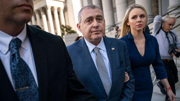 PHOTO: Lev Parnas and his wife Svetlana Parnas depart federal court following an arraignment hearing, Oct. 23, 2019, in New York. (Drew Angerer/Getty Images)