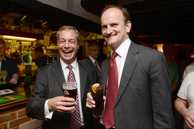Rocky relationship: Nigel Farage and Douglas Carswell (Picture: Jeremy Selwyn)