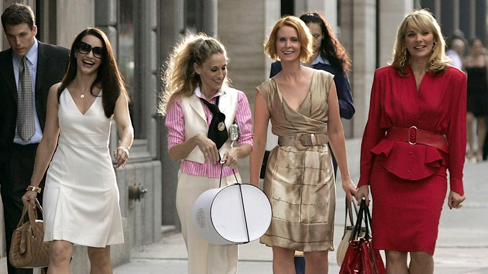 Charlotte, Carrie, Miranda and Samantha on Sex and the City