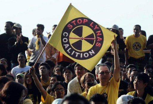 Malaysians protest against an Australian rare earth plant in a resort town of Kuantan