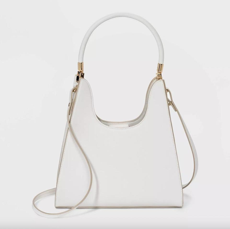 <p>This affordable <span>A New Day Trapezoid Mini Satchel Handbag</span> ($35) comes in quite a sophisticated shape.</p>