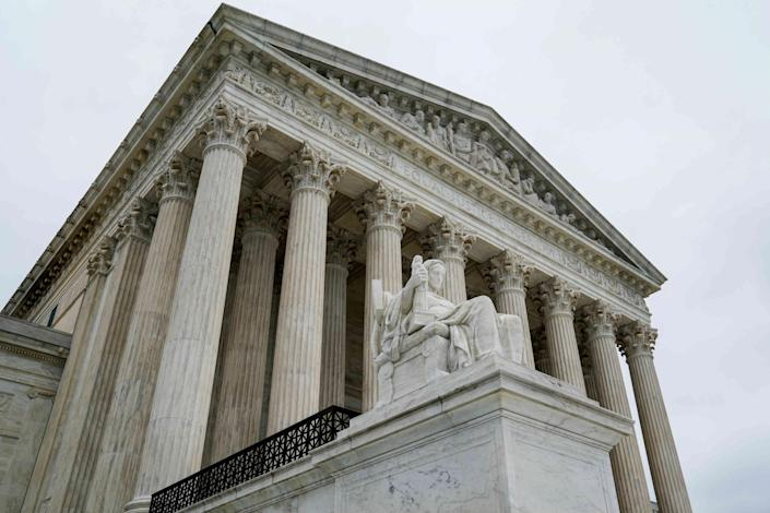 The Supreme Court handed down the decision, citing free speech protections for the clinics: Erin Schaff/Reuters