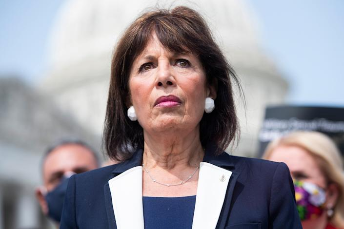 Rep. Jackie Speier (D-Calif.) attends a news conference, Sept. 16, 2020. (Photo: Tom Williams via Getty Images)