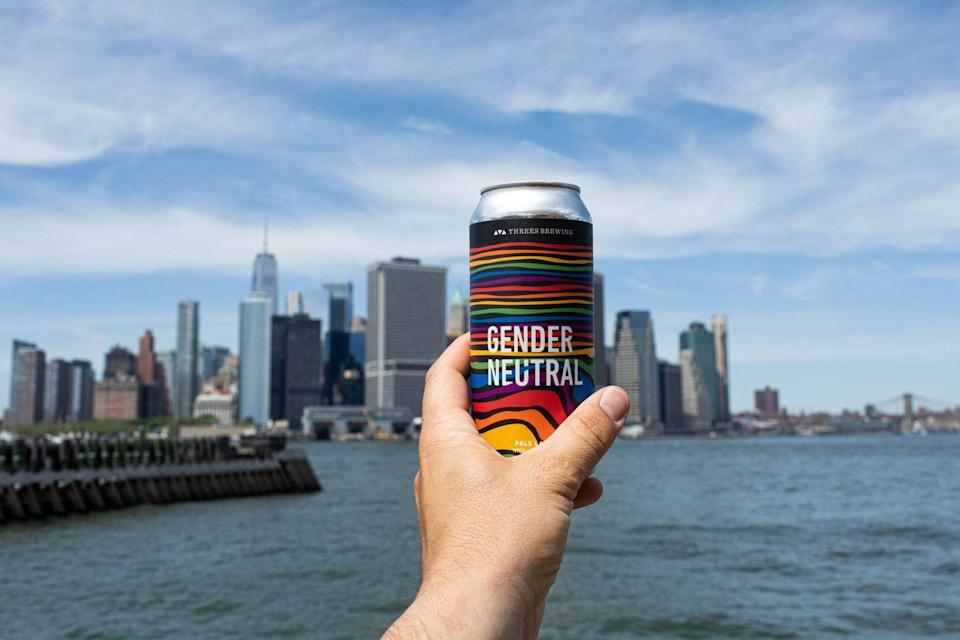 "<p>This inclusivity-inspired beer is where lager meets lemonade. ""Lagerade,"" <a href=""https://threesbrewing.com/beers/gender-neutral/"" rel=""nofollow noopener"" target=""_blank"" data-ylk=""slk:Threes Brewing"" class=""link rapid-noclick-resp"">Threes Brewing</a> calls it. Even better: 10 percent of Gender Neutral proceeds go to the <a href=""https://avp.org/"" rel=""nofollow noopener"" target=""_blank"" data-ylk=""slk:Anti-Violence Project"" class=""link rapid-noclick-resp"">Anti-Violence Project</a>, an organization that empowers <a href=""https://www.cosmopolitan.com/lgbt/"" rel=""nofollow noopener"" target=""_blank"" data-ylk=""slk:LGBTQ+"" class=""link rapid-noclick-resp"">LGBTQ+</a> and HIV-affected communities in New York City.</p>"