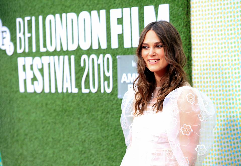 Keira Knightley attending the Official Secrets European Premiere as part of the BFI London Film Festival 2019. (Photo by David Parry/PA Images via Getty Images)