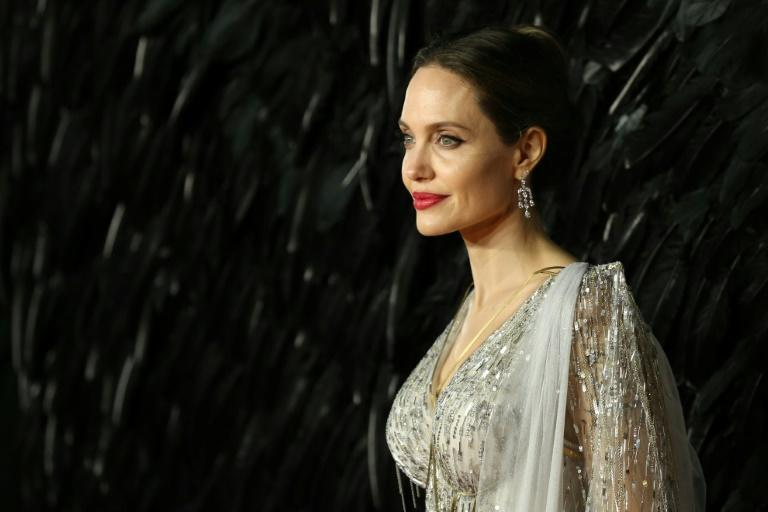 US actress Angelina Jolie, shown here on the red carpet in London on October 9, 2019, accused Harvey Weinstein of sexual misconduct