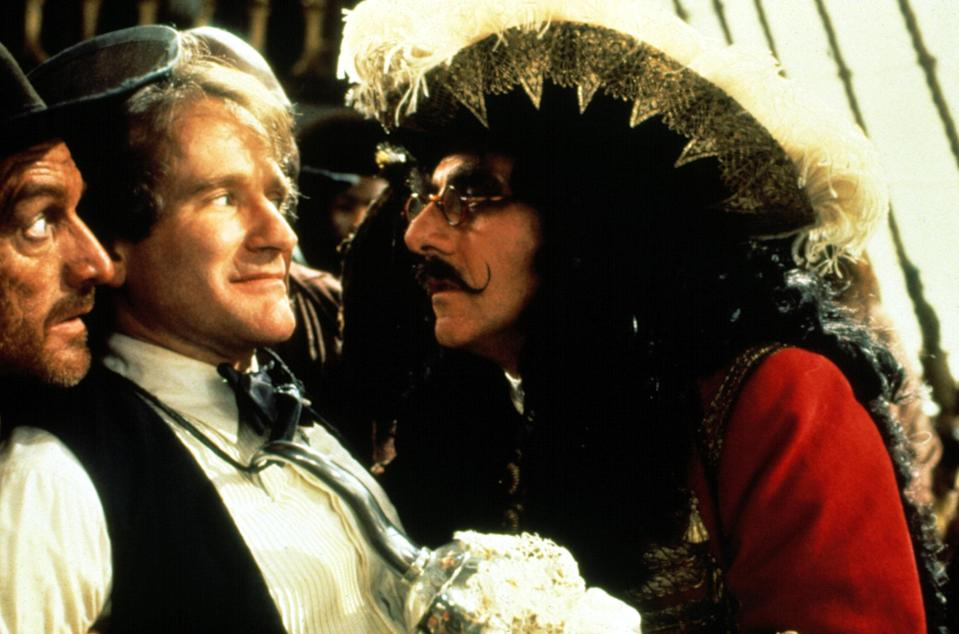 "<p>What would happen to the Lost Boys if Peter Pan left Neverland? And what would Captain Hook do without his number one nemesis? <em>Hook</em> stars the late, great Robin Williams as the beloved character, all grown up. The rest of the cast is great too: Julia Roberts plays Tinker Bell, and Dustin Hoffman is Hook himself. </p> <p><a href=""https://www.netflix.com/title/600346"" rel=""nofollow noopener"" target=""_blank"" data-ylk=""slk:Available to stream on Netflix."" class=""link rapid-noclick-resp""><em>Available to stream on Netflix.</em></a></p>"
